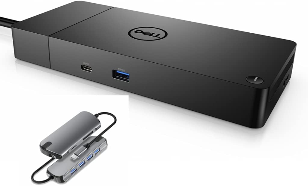 Dell WD19DCS 240W AC Performance Dock (Provides 210W Power Delivery; 90W to Non-Dell Systems) No 3.5mm Ports+ 7 in 1 USB HUB