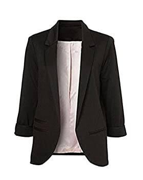 Women's Open Black Blazer