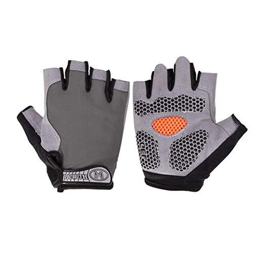 1 par de guantes de ciclismo de media dedo, antideslizantes, de gel, para ciclistas, para bicicleta de montaña, resistentes a los golpes