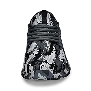 Troadlop Mens Tennis Shoes Breathable Food Service Restaurant Sneakers Comfortable Athletic Sport Running Gym Workout Shoes Camouflage Gray 12.5