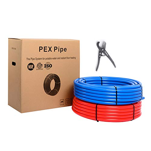 EFIELD PEX Pipe/Tubing (NSF Certified) BLUE&RED 3/4 inch 2X 300ft Rolls 600FT Length For Potable Water with Free Pipe Cutter