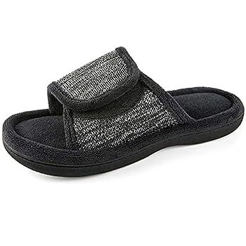 RockDove Women s Adjustable Wrap Memory Foam Slide Slipper Size 7-8 US Women Black