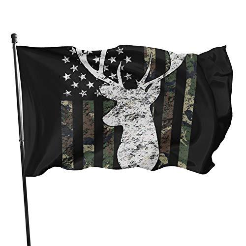Gartenflagge mit Messingösen, Jagd, Camouflage, amerikanische Flagge