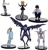 cheaaff Anime 6 unids/Set 6-24 Death Note PVC Figuras de acción Celoso Amane Rem Misa Light Yagami Ryuk Modelo muñecas Juguetes Brinqudoes