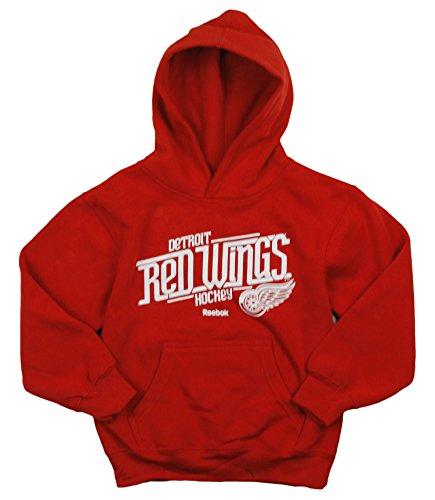 Reebok Detroit Redwings NHL Little garçons Custom en Polaire à Capuche pour Homme, Rouge Taille L 6 – Rouge