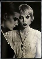 ポスター ピーター リンドバーグ VISIONAIRE(ヴィジョネアー)ジェシカ・スタム 額装品 アルミ製ハイグレードフレーム(ブラック)