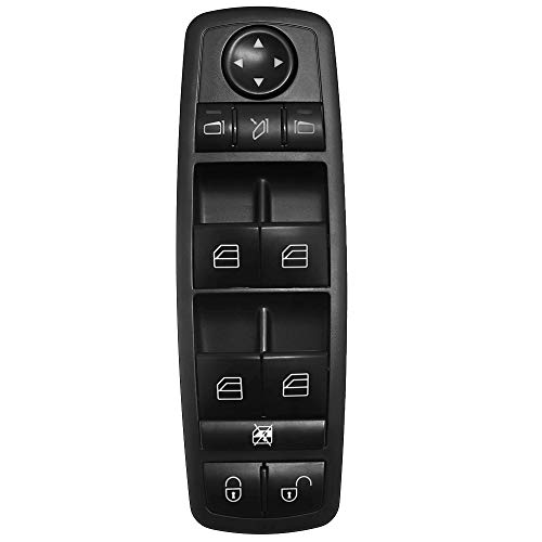 KAOLALI A1698206710 1698206710 Botonera Elevaluna Interruptor de Ventana Principal Compatible para Mercedes-Benz Clase A W169 Clase B W245