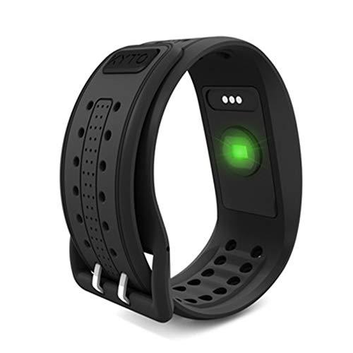 NIHE Monitor de Ritmo cardíaco Pulsera Bluetooth 4.0 Reloj Ant + HRV Pulsera para Ciclismo Correr Fitness-Black
