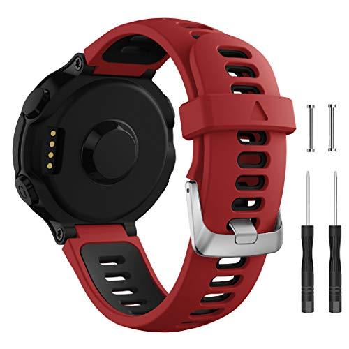 Songsier Bracelet pour Forerunner 735XT 235 235Lite 230 220 620 630, Bracelet de Remplacement Libération Rapide en Silicone Mince