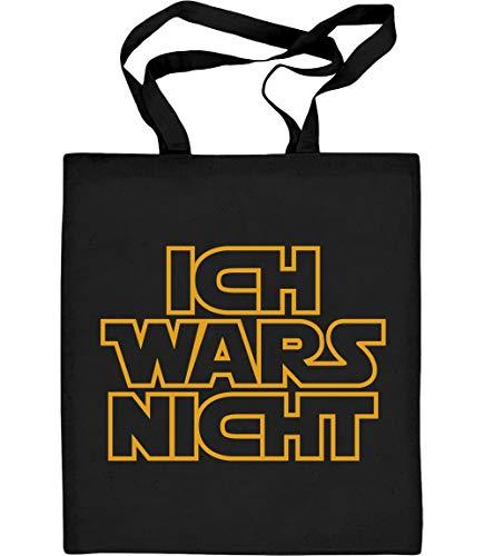 Shirtgeil Ich Wars Nicht Design in cooler Schrift Jutebeutel Baumwolltasche One Size Schwarz