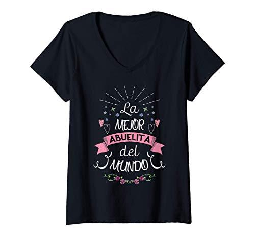 Mujer Camisa La Mejor Abuela Del Mundo Regalo Para Abuelita Camiseta Cuello V