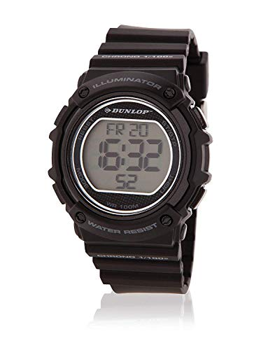 Dunlop Unisex Erwachsene Digital Quarz Uhr mit Edelstahl Armband DUN249L01