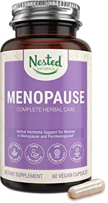 Nested Naturals Menopause Complete Herbal Care Supplement for Women – Support for Mood Swings, Vaginal Dryness & Hot Flashes - Natural Black Cohosh Extract & Dong Quai Root One A Day Menopause Relief by Nested Naturals