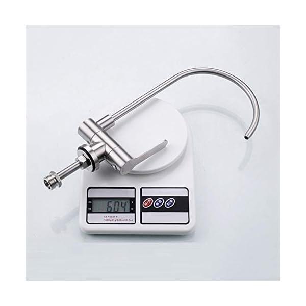grifo cocina osmosis abatible, grifo puro, acero inoxidable 304, grifo abatible fregadero de cocina doméstico, plegable…
