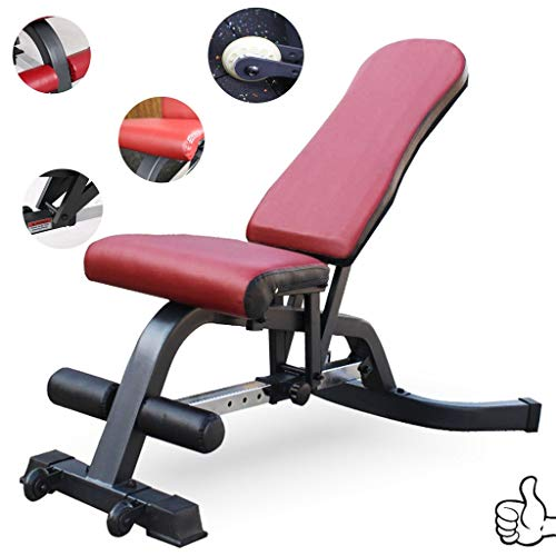 Olympia-Hantelbänke Home Gym Gewichte Bank Gym Gewerbe Hantelbank Heim Multifunktionale Sit-up Board Men 's Choice (Color : Red, Size : 142 * 80 * 47cm)