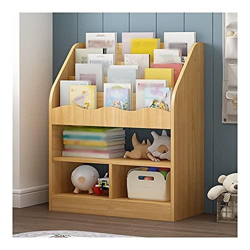 Dongxiao Estantería de pie para niños, estante de almacenamiento para libros, estantería para casa, oficina