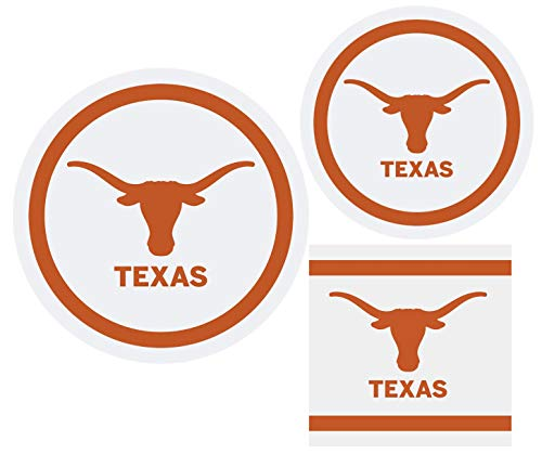 Texas Longhorns Party Supplies Themed Paper Plates and Napkins Serves 10 Guests