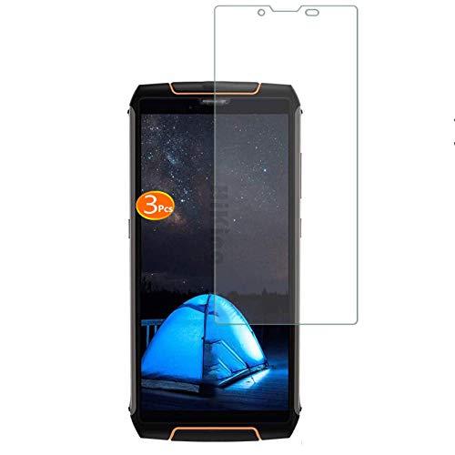 HYMY 3 Pièces Film Protection pour Cubot King Kong 3 (5.5') Film Protection d'écran en Verre Trempé Cristal Film Protection en Vitre [Anti-Empreintes digitales] [Anti-Rayures] sans Bulles d'air Verre