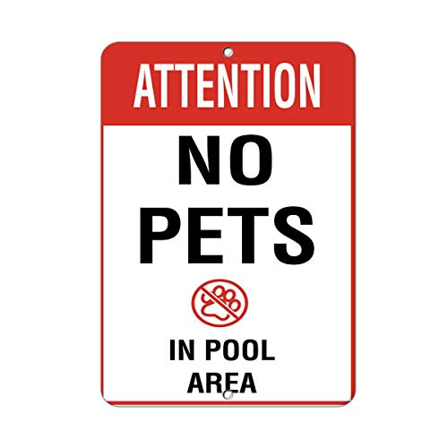Yohoba Attention No Pets In Pool Area Activity Sign Pool Signs Aluminum Metal Sign