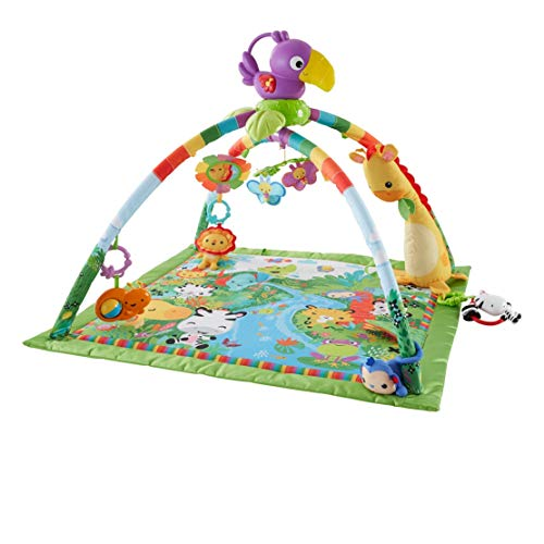 Fisher-Price DFP08 Rainforest Gym, Baby Playmat with Music and Lights, Suitable...