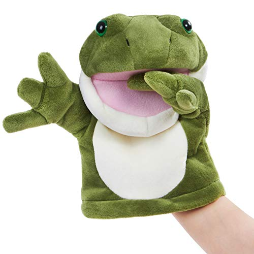 CozyWorld Frog Puppet Soft Hand Muppets Plush Toy Show Developing Intelligence Gifts for Adults and...