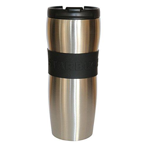 Starbucks Edelstahlthermobecher Tumbler Lucy Silber schwarz Kupfer Kaffeebecher wiederverwendbar 12oz/355ml (Silber, 12oz/355ml)