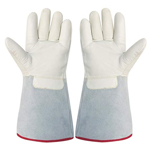 HYL0 Niedrigtemperatur-resistente Handschuhe Frostschutzhandschuhe, flüssiger Stickstoff kalt trockenes EIS Kälte Lagerung LNG Naturgas Spezial Leder Dicke Handschuhe ZZBiao, 40 cm