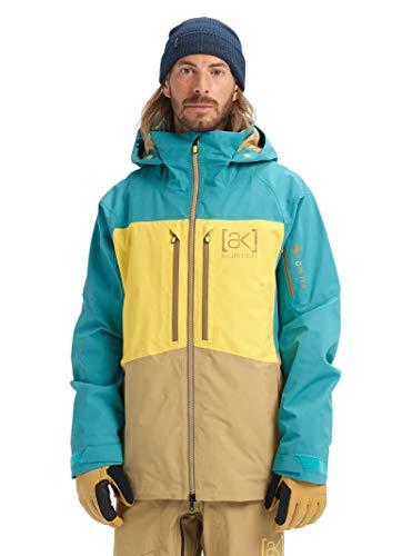Burton Mens Ak Gore-Tex Swash Jacket, Green-Blue Slate/Maize/Kelp, Small