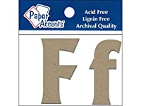 "Chipboard Letter 2"" Ff 2pc Natural"
