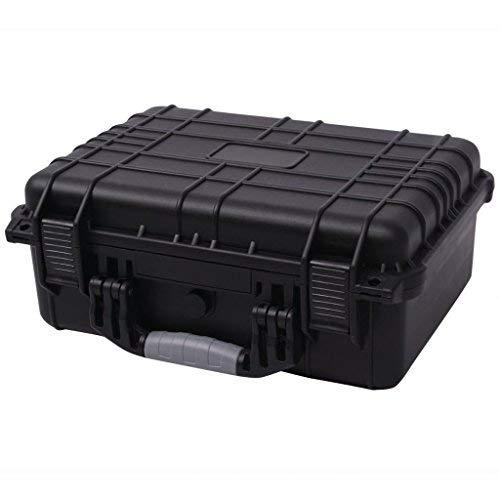 Tidyard Kamerakoffer Wasserdicht Klein Universalkoffer mit 3 Schaumstoff Schutzkoffer Transportkoffer Fotokoffer für Kamera, Staubdichter Koffer, 27x24,6x12,4 cm