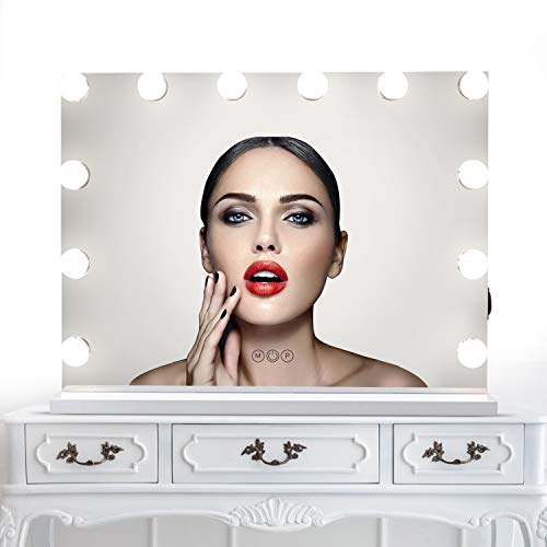 Makeup Vanity Mirror Hollywood Lights Plug in Light-up Professional 3...