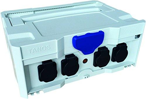 TANOS Stromverteiler SYS-PH mit integrierten 230V-Steckdosen, lichtgrau EU