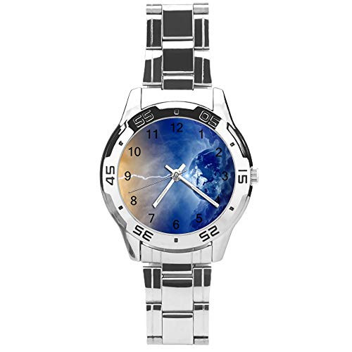 Classic Three Hand Quartz Watch with Stainless Steel Strap,Dial Flash,Adjustable Automatic Strap,Silver,for Unisex,Best Gift (41mm) l36n34g6p0tg