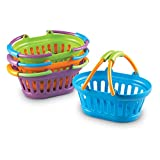Learning Resources New Sprouts Stack of Baskets, Pretend Play, Play Grocery Basket, 4 Pieces, Ages 18 mos+