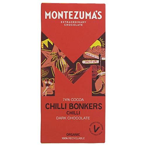 Pack Of Two Montezuma's Organic Chilli Chocolate Bars