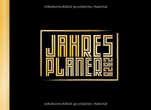 Jahresplaner: Schwarz Gold I Der ultimative Kalender & Planer im Taschenformat I A6 Quer I inklusive Tagesplaner I Vorsätze & Zielsetzung I Mini Tagebuch I Weihnachtsgeschenk