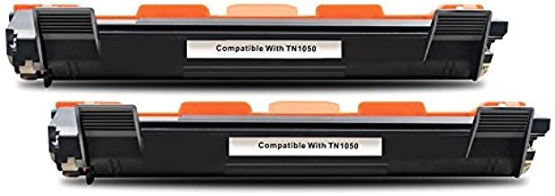 BeOne Compatible con Brother TN1050 Cartucho de tóner Negro Usado para Brother HL-1110 HL-1112 DCP-1510 DCP-1512 MFC1510 MFC1810 Impresora (2 Pack)