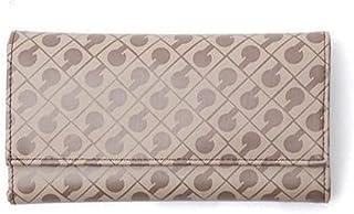 Gherardini Portafoglio Taglia Grande in Tessuto Softy Colore Marrone Testa di Moro Donna 19,5x10,5x3 cm