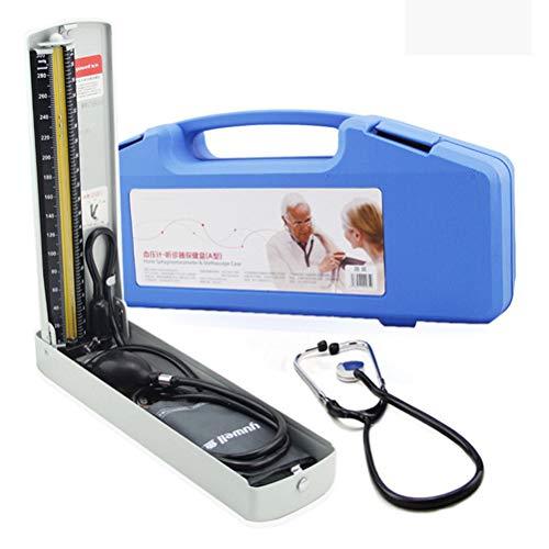 WWJJLL Sphygmomanometer Set, Aneroid Blutdruckmessgerät, präzise Lese Desktop-Old Man Oberarm Manuelle Blutdruckmanschette strapazierfähige Tasche