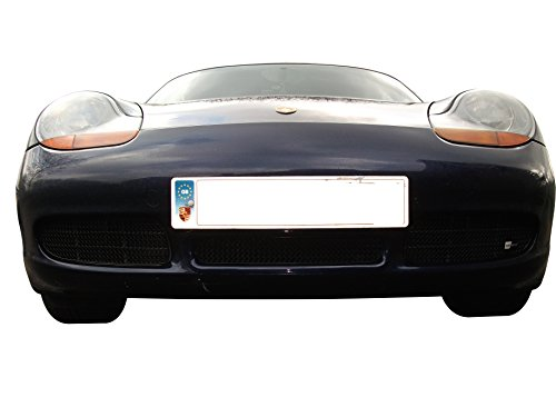 Zunsport Compatible with Porsche Boxster S 986 - Front Grill Set - Black Finish (1996 to 2004)