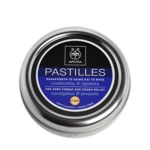 Apivita Pastillen Pastillen für Halsschmerzen und Husten Relief mit Eukalyptus & Propolis