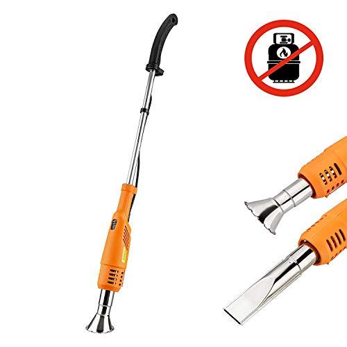 KINZO Premium 3in1 Unkrautbrenner | Abflammgerät | Grillzünder | Umweltfreundlich OHNE Gas | elektrisch betrieben | 2000W | Temperatur wahlweise 60°C oder 650°C