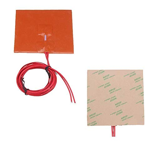 XiaoMall 100 * 100mm 12V 50W Silicone Heater Bed Pad W/Thermistor for 3D Printer