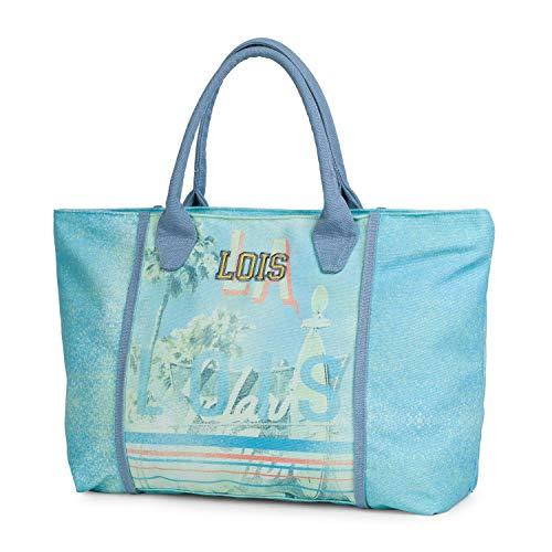 Lois - Bolso Capazo con Asas de Lona Estampada. Tipo Shopping Tote....