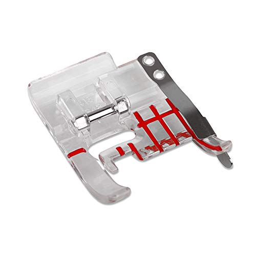 DREAMSTITCH 4130348-45 Snap On Clear Seam Guide Presser Foot for Viking Group D,1,2,3,4,5,6,7 Sewing Machine - 4130348-45
