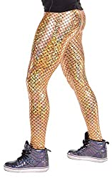 Men's gold leggings.