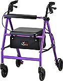 NOVA Vibe 6 Rollator Walker, Purple