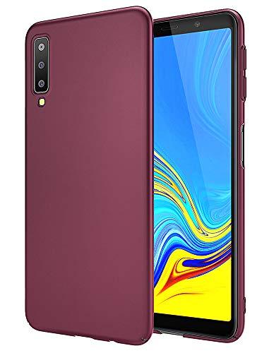 EIISSION Handyhülle für Samsung Galaxy A7 2018 Hülle, Hardcase Ultra Dünn Samsung Galaxy A7 2018 Schutzhülle aus Hart-PC Hülle Cover Handyhülle für Samsung Galaxy A7 2018- Lila