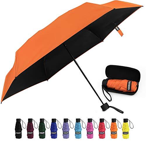 Small Mini Umbrella with Case Light Compact Design Perfect for Travel Portable Parasol Outdoor Sun&Rain Umbrellas