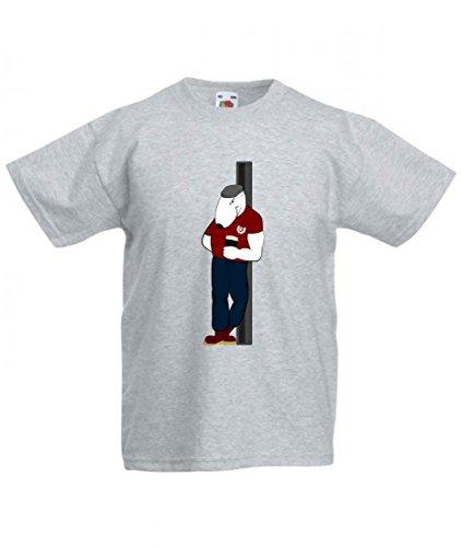 T-Shirt Punk- Skinhead- Hund- Tier- Person- Mann- Bier- Alkohol in Grau für Herren- Damen- Kinder- 104-5XL